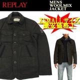 【激安!】◆お買い得秋冬商材◆REPLAY リプレイ ウール混 中綿ジャケット<ラスト3点>