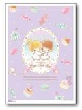 POS-131/キキララ/キキ&ララA4サイズミニポスター/キキララスイーツシリーズ(LITTLE TWIN STARS)