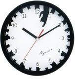 掛時計 サークル ネコ ブラック【猫】【ねこ】【クロック】