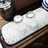 【カジュアルBIG SALE】お星さまスリム水切りマット/台所/キッチン◆423941