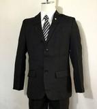 Boy Formal Suits Black Stripe Button Band 5-item Set