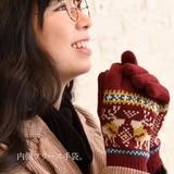 【カジュアルBIG SALE】トナカイ柄♪ジャガード手袋◆423937