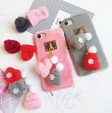 ★2016冬新作★ 【ストラップ】DIY毛糸ポール&リボン  iphone