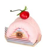 さくら 今治 ケーキタオル 7色 レインボー ロールケーキ ハンカチ【日本製】【雑貨】