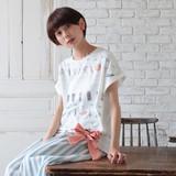 *Bのこりわずか*<即納>[2017SS]ドルマン台形リボンTシャツ
