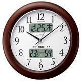 訳あり特価!シチズン電波掛時計 環境目安・温度・湿度計 インフォームナビW 4FY619-006