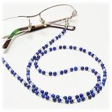 【30%OFF】【天然石】ラピスラズリ×水晶 メガネチェーン 眼鏡チェーン グラスコード