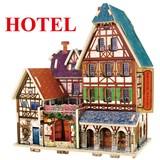 3D立体パズル 木製シリーズ フランス・スタイル(ホテル)