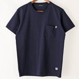 【予約販売】(3月納品)【2017年春物新作】星刺繍半袖Tシャツ<日本製>