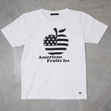 【予約販売】(3月納品)【2017年春物新作】アップルプリント半袖Tシャツ<日本製>