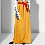 【Web展】【受注締切12/22】【RUE・BISQUIT】ベルトリボン使いマキシスカート GONNA TWILL