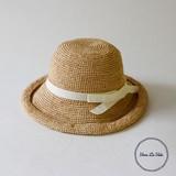 【春夏新作】[帽子]RAFFIA クロシェハット ターンリム