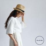 【春夏新作】[帽子]RAFFIA ブレードライン ハット