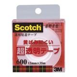 NEW スリーエム クリアテープ 12mm 600-1-12C 00014520