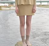 【Web展】(1月末納期)<日本製>ラメミラノリブスカート