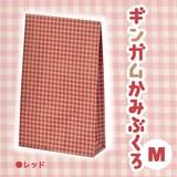 ギンガムチェック紙袋(Mサイズ)