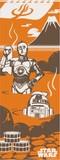 ■STAR WARS■スターウォーズ てぬぐい(C3-PO・R2-D2・温泉)日本製