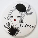 [ILicca]コンパクトミラー(レザーケース付)
