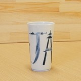 染付 JAPAN ロンググラス 伝統工芸士 村上三和子
