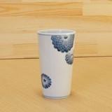 染付 菊紋 ロンググラス 伝統工芸士 村上三和子