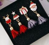 クリスマススタイル フリンジモチーフのピアス イヤリング