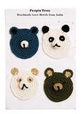 手編みクロシェモチーフ クマ&パンダ