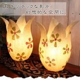 エキゾチックな影が 幻想的な空間に【ロータスデザインランプ】アジアン雑貨