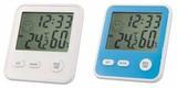 【クロック付】デジタルMini温・湿度計・時計