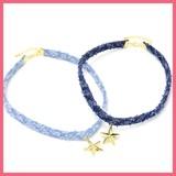 星とデニムチョーカーネックレス