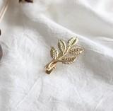 ★2016冬新作★ シンプルな木の葉のヘアピン