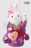 Ornament Kinsai Crape Heart Flower Rabbit The Left Hand