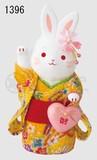 Ornament Kinsai Crape Heart Flower Rabbit Right Hand