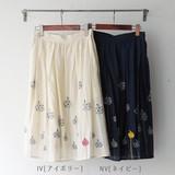 ☆春のHAPPY PRICE☆<即納> スカート Flowerprint&embroidery