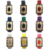 ファッションウォッチ  カラー蛇腹バンド 9色展開 ブレスレットウォッチ レディース腕時計