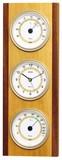【特価品】  ウッドクレスト温度・湿度計・時計