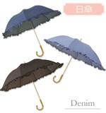 日傘デニムUVカット率97.9%以上!!