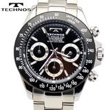 【TECHNOS】 テクノス クロノグラフ腕時計 TSM401TB
