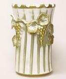 【イタリア製】陶器傘立て(ブドウ・アイボリー&ゴールド)