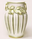 【イタリア製】陶器傘立て(レモン・アイボリー&ゴールド)