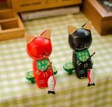 【アニマル置物】 猫釣り2個セット  座りネコ