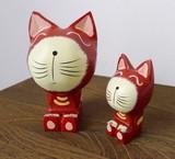 【アニマル置物】 座りネコ 猫 2サイズ