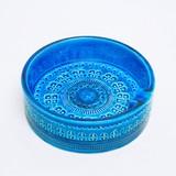 【イタリア製】ビトッシ・リミニブルー陶器 灰皿 Ф15.5cm