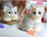 【アニマル置物】 可愛い白猫  ネコ
