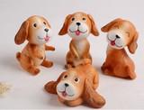 【アニマル置物】 可愛い犬4個セット