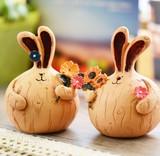 【アニマル置物】 可愛いウサギ2個セット