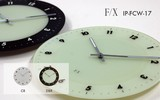 Transparency Glass Index Clock/Watch
