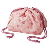 【お弁当グッズ】保冷弁当袋きんちゃく 桜