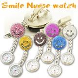 キラキラナースウォッチスマイル 懐中時計 看護士 医療 スマイリー 時計 アナログ
