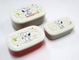 ●新春●【スヌーピー】 シール容器3Pセット <日本製>
