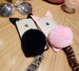【iphone用保護ケース】  猫のしっぽ   カバー  2色